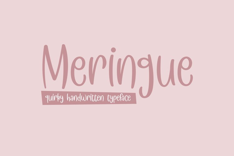 Meringue - a quirky handwritten typeface example image 1