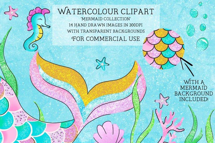 Mermaid tail clipart, nursery clipart