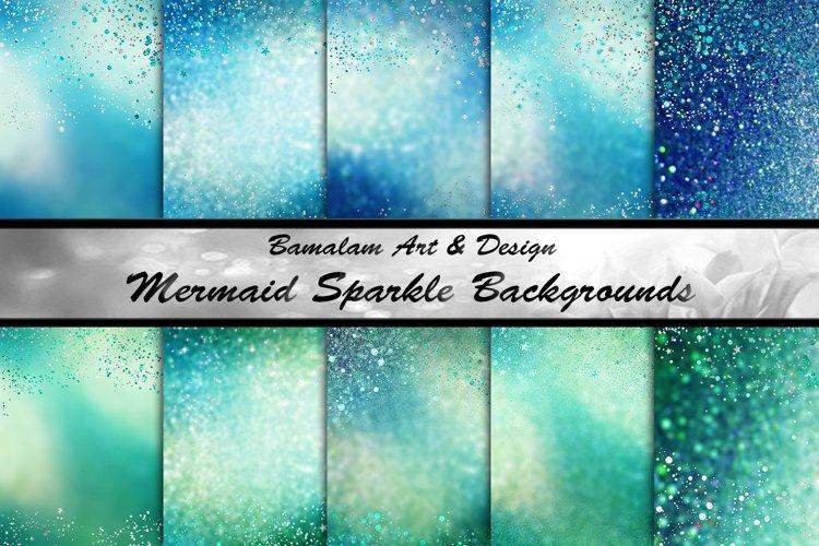 Mermaid Sparkle Glitter Sublimation Backgrounds