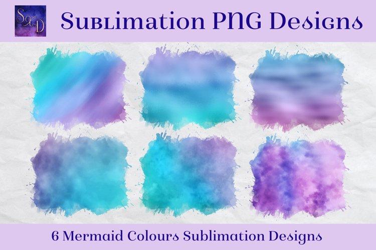 Sublimation PNG Designs - Mermaid Colours Images