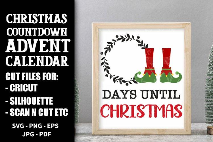 Christmas Countdown, Advent Calendar SVGs, Xmas countdown example image 1