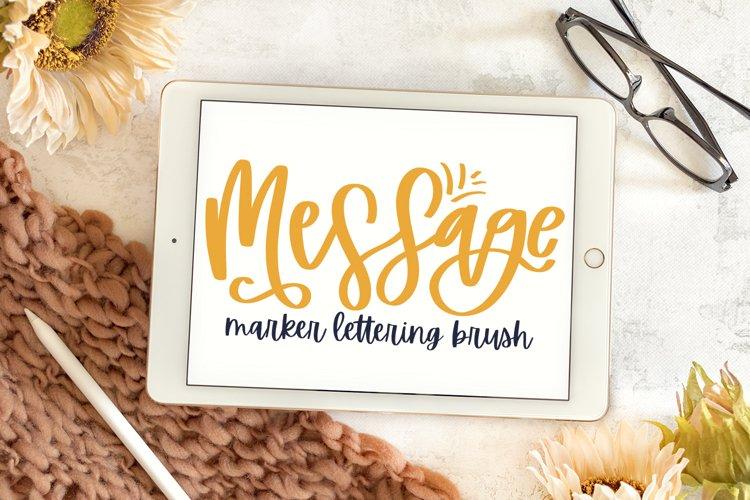 Message - A Marker Lettering Brush