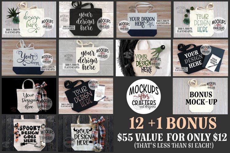 Tote Bag MOCK-UP Bundle,12 plus 1 bonus