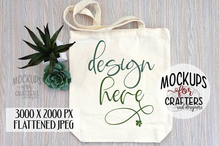 Tote Bag, Canvas, succulent, Mock-up