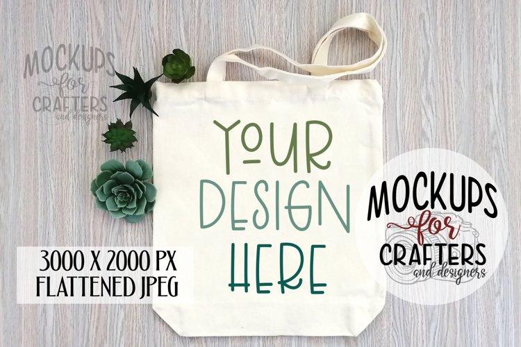 Tote Bag, Canvas, succulents, Mock-up