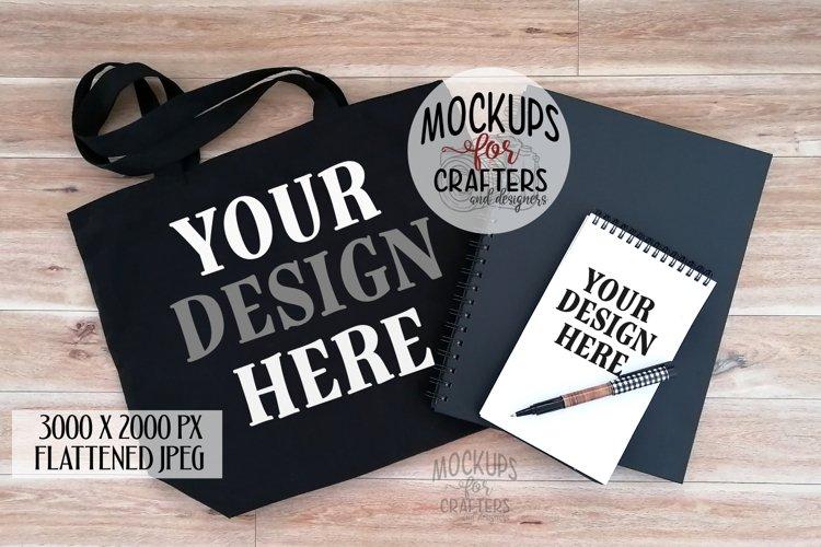 Tote Bag & Notepad, Dual Mock-Up