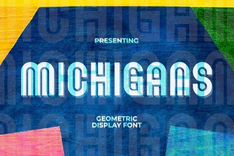 Web Font Michigans - Display Font example image 1