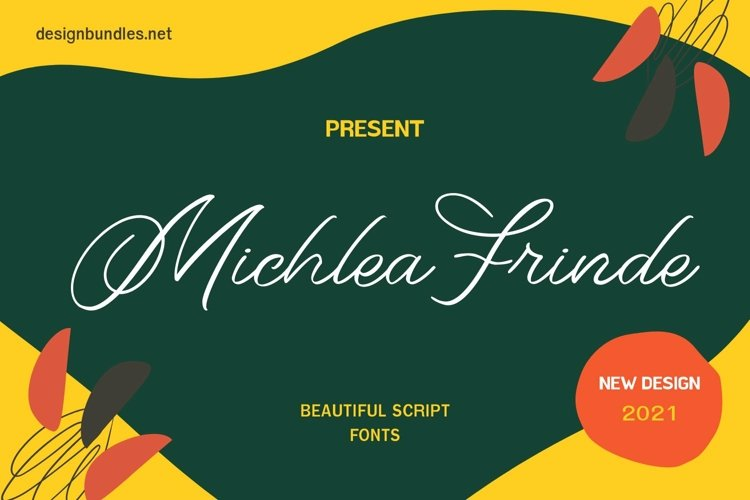 Web Font Michlea Frinde Font example image 1