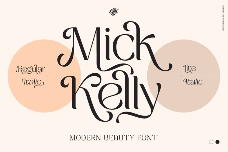 Mick Kelly - Beauty font example image 1
