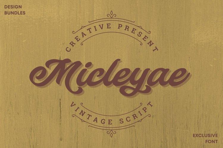 Web Font Micleyae Font example image 1
