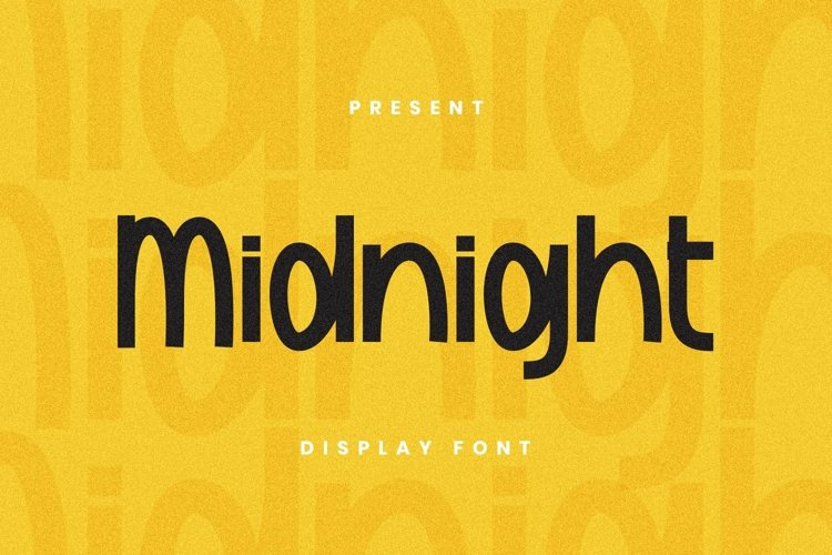 Web Font Midnight Font example image 1