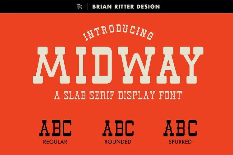 Midway - Slab Serif Font example image 1