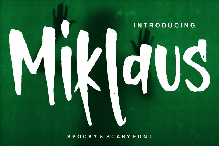 Web Font Miklaus - Body & Scary Font example image 1