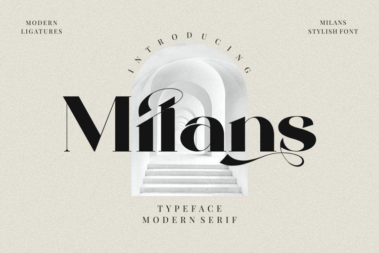 Milans_Typeface Modern Serif example image 1