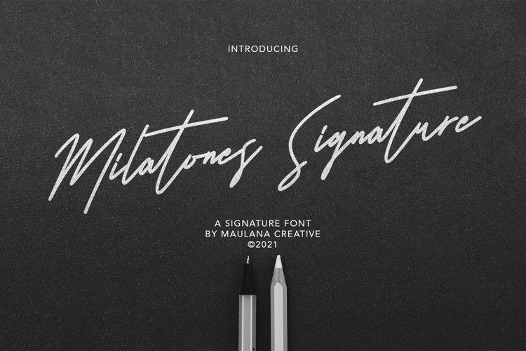 Milatones Signature Font example image 1