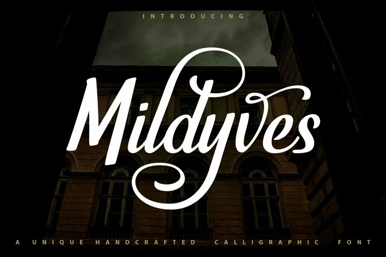 Web Font Mildyves - Handcrafted Calligraphic Font example image 1