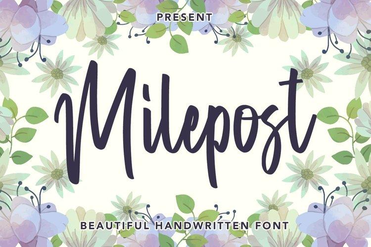 Web Font Milepost - Beautiful Handwritten Font