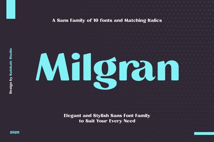 Milgran Sans Serif Font Family example image 1