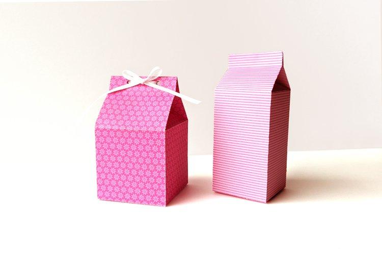 Milk Carton Boxes SVG Design