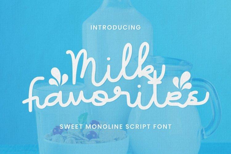 Web Font Milk Favorites Font