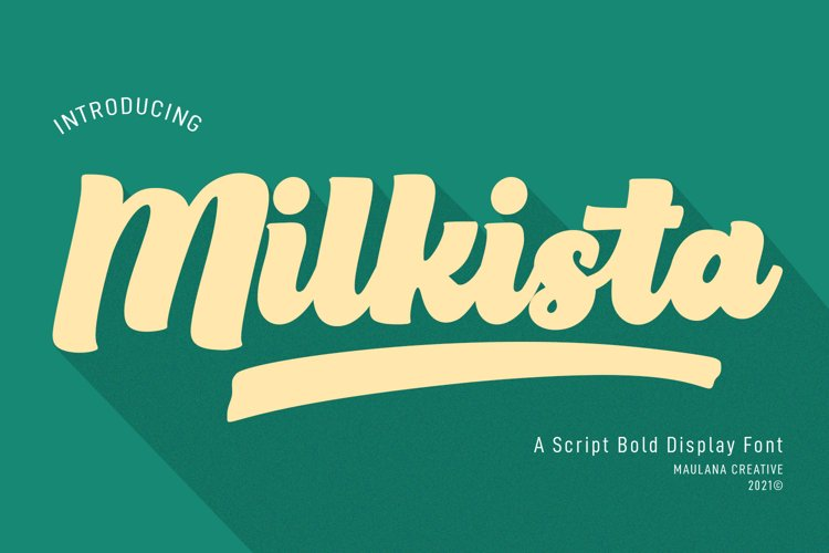 Milkista Script Bold Display Font example image 1