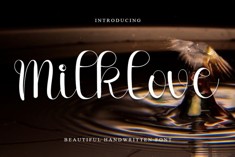 Milklove - Beautiful Handwritten Font example image 1