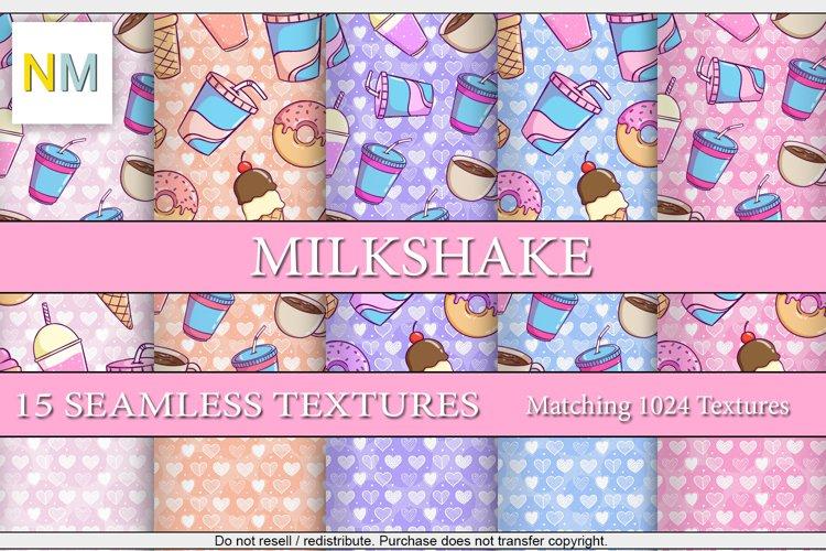 Milkshake 15 Seamless Textures Digital Papers Harmonia NM