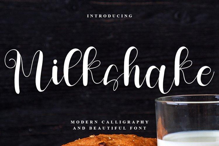 Milkshake - Sweet Calligraphy Font example image 1