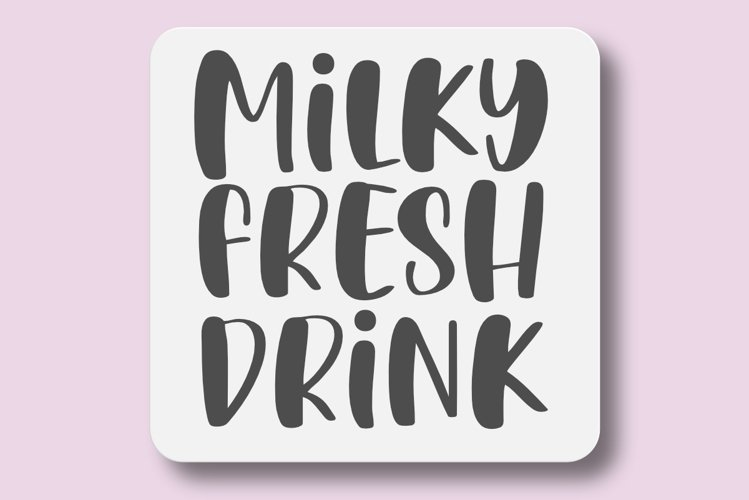 Milky Fresh Drink - A Bold Crafty Font example image 1