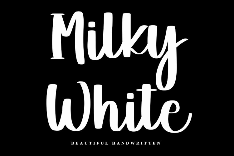 Milky White - A Beautiful Handwritten Font example image 1
