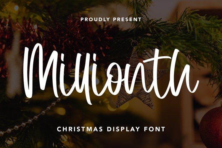Millionth - Christmas Display Font example image 1