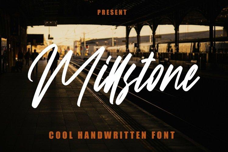 Web Font Millstone - Cool Handwritten Font example image 1