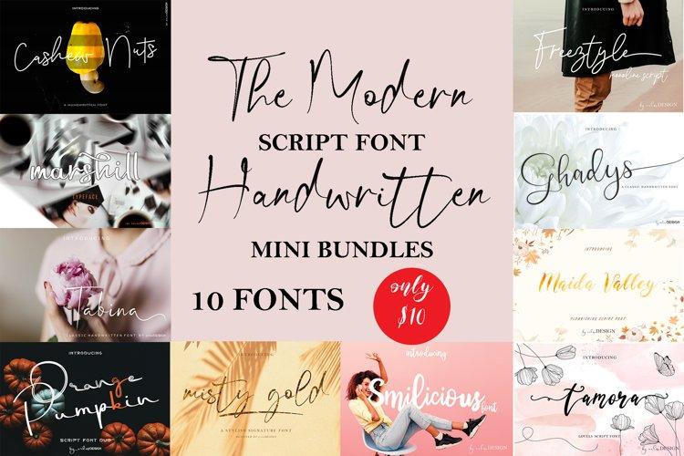 The Modern Script Font Mini Bundle