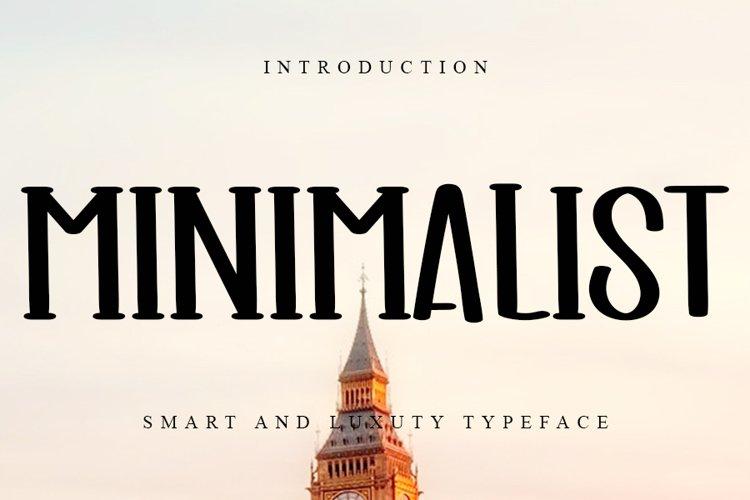 Minimalist Smart & Luxury Typeface example image 1