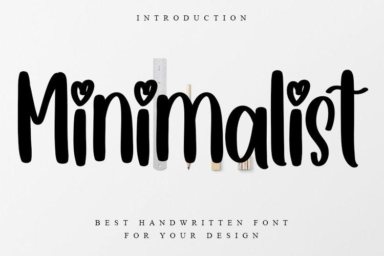 Minimalist | Best Handwritten Font example image 1