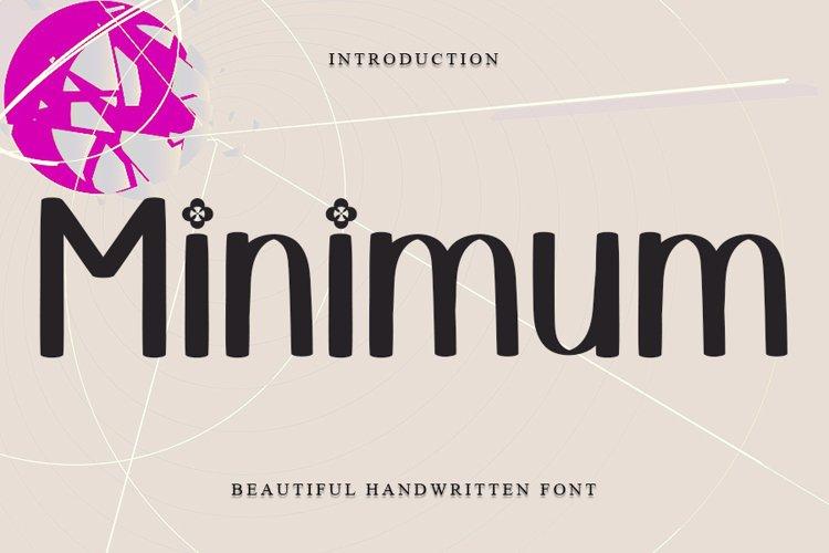 Minimum - Beautiful Handwritten Font example image 1