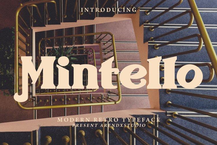Mintello - Modern Retro Typeface