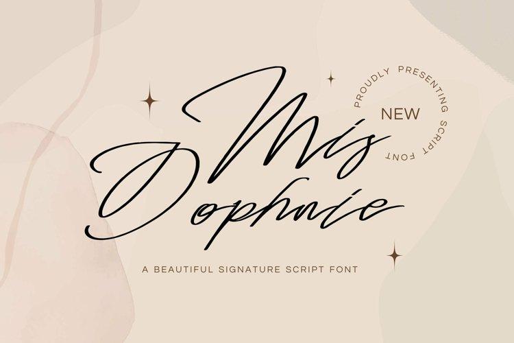 Web Font Mis Dophnie - Signature Script Font example image 1