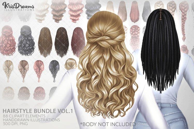Hair Clipart, Fashion Girl Clipart, Black Girl Hairstyle Cli