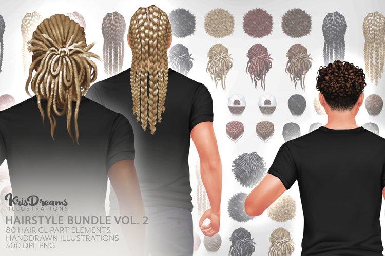 Hair Clipart, Male Hairstyles, Man Bun Hairstyle Clipart,