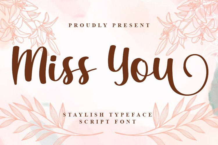 Miss You - A New Script Font example image 1