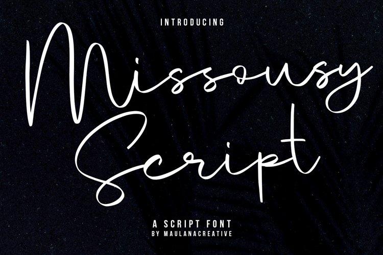 Missousy Handwritten Script Font example image 1