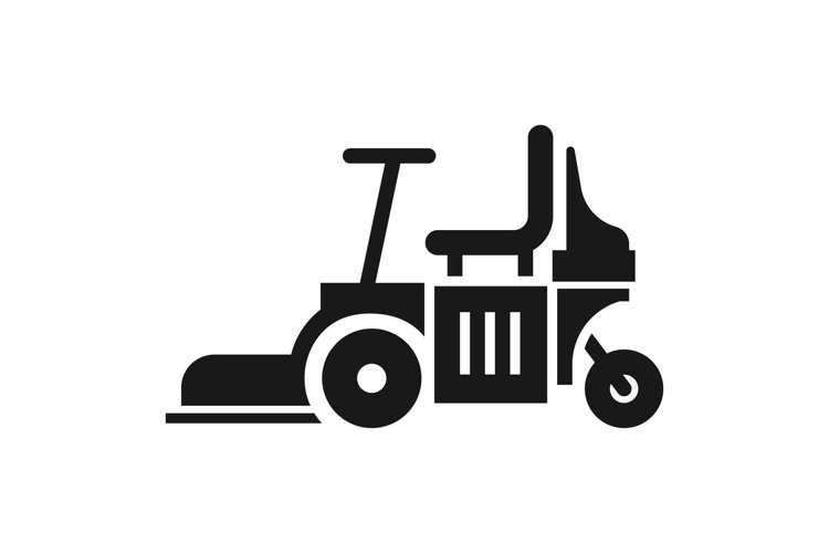 Chair lawn mower icon, simple style example image 1