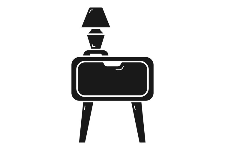 Nightstand icon, simple style example image 1
