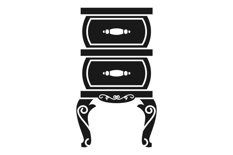 Vintage nightstand icon, simple style example image 1