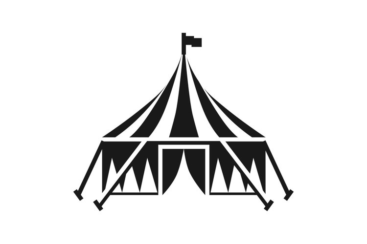 Circus tent icon, simple style example image 1