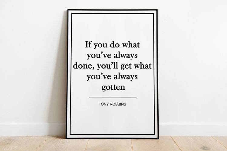 Motivational Print Frame not included