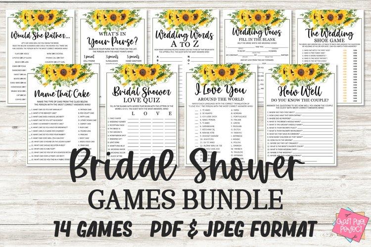 Bridal Shower Games Bundle, Wedding Shower Games, Party Game