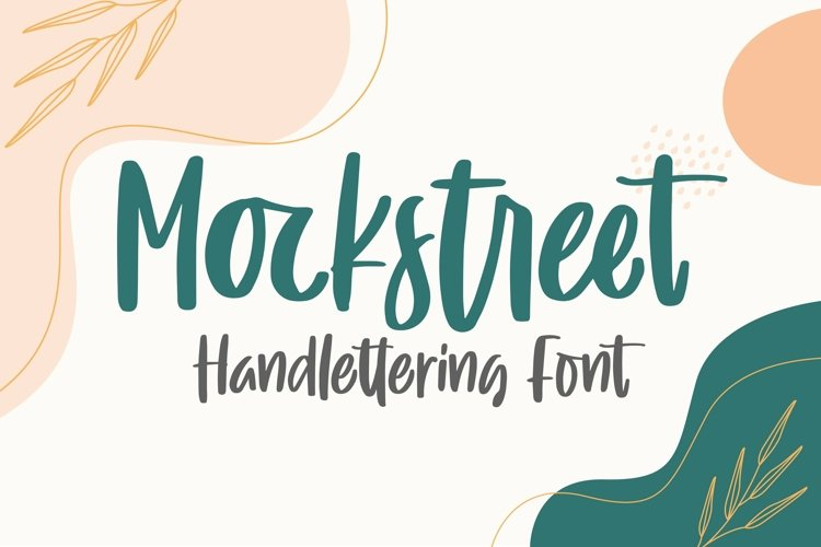 Web Font Mockstreet - Handlettering Font example image 1