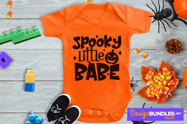 Spooky Little Babe, Jack O Lantern Svg, Cute Pumpkin Svg